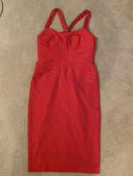 Super Cute! ASOS Red MIDI Fitted Dress (size 10) $24.99