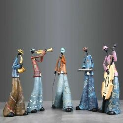 Family Figurines For Home Decor Accessories Morden Creative Band Music Character