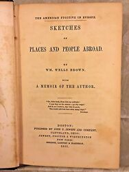 1st Ed The American Fugitive In Europe Sketches Of Places And People Abroad