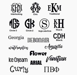 Monogram Custom Made Vinyl Decal • Custom amp; PERSONALIZED FOR YOU $1.00