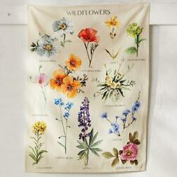 Wildflower Tapestry Wall Hanging Flower Hippie Bohemian Psychedelic Home Decor