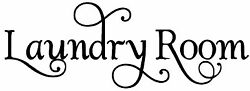 Laundry Room Vinyl Decal Sticker - Washer Dryer Ironing Clothes - Swash