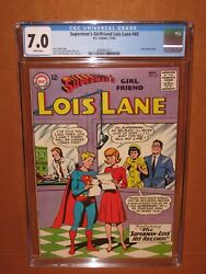 Supermanand039s Girlfriend Lois Lane 45 Cgc 7.0 Ultra-rare White Pages 12pix Insured