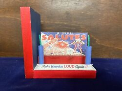 Firework Firecracker Novelty Bookend Reproduction Box Star Brand 2 In. Salutes