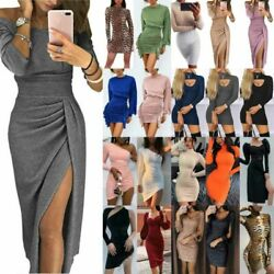 Women Slim Fit Long Sleeve Bodycon Dress Ladies Evening Cocktail Party Clubwear $18.90