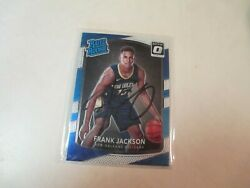 2018 Frank Jackson New Orleans Pelicans Hand Signed Autographed Rookie Card Coa