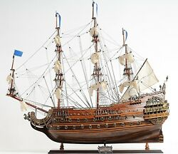 Wooden Ship Model 28 French Soleil Royal 17th Century Replica Collectible Decor