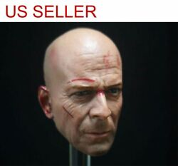 1 6 scale Combat injuries Bruce Willis Head Sculpt For 12quot; Figure hot toys
