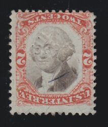 Us R151a 2c Third Issue Inverted Center Used W/ Punch Hole Cancel Scv 425