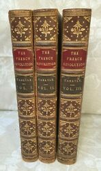 The French Revolution 1837 3 Vols By Thomas Carlyle 1st Edition Chapman And Hall