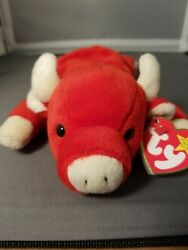 Ty Snort Bull Beanie Baby Nwt Museum Quality Tag Errors 1995 Retired
