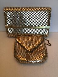 Lot Of 2 Gold Clutch Purses $12.99
