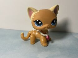 Authentic Lps Shorthair Cat #525 With Necklace Rare LPS cat with blue eyes