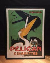 Pelican Cigarettes Vintage Poster Made In France 1930s 85andtimes64cm Antique F/s