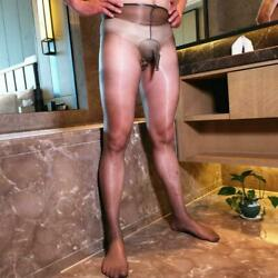 1d Ultra-thin Shiny Glossy Men Pantyhose Stocking Tights Crotchless Underwear