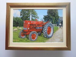Trevor Mitchell Vintage Tractor Print And039mccormick Farmall B450and039 Framed