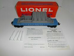 Lionel 6544 Missile Firing Car Black Counsel W/orig.boxmissiles And Copy Inst.