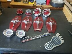 Vintage Ford Ranger Name Plate, Light Covers, Clocks And More