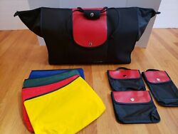 How COOL is This French BAG Large Nylon Blk Luggage Multicolor Accs amp; Function $95.00