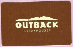 Another Outback Steakhouse No Value Gift Card