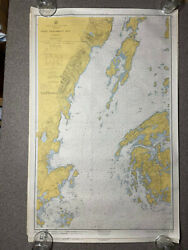 1959 Us Coast And Geodetic Survey Map Depth Chart 310 Penobscot Bay Maine 27x39