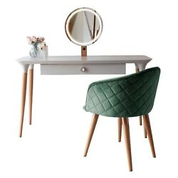 2-piece Homedock Vanity Dressing Table With Mirror Led Lights And Kari Accent...