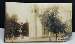 Antique Vintage 1913 St. Paul's Lutheran Church Reading Ohio RPPC Postcard