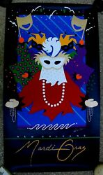 Official New Orleans Mardi Gras Poster 1992 Numbered Patti Harris Googe Rare
