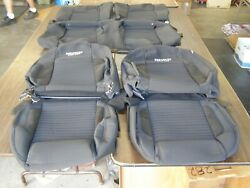Nos Oem Ford 2013 2014 Boss 302 Mustang Coupe Seat Covers Black Cloth Gt 2012