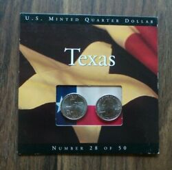 Texas 2004 P D State Quarters Coins Of America Unc
