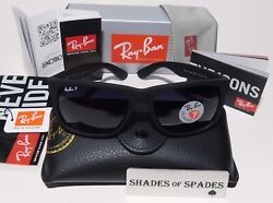 New Ray Ban Justin Wayfarer POLARiZED RB4165 622 T3 Black Grey Gradient 54mm $64.50