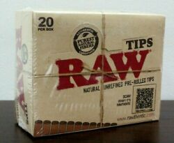 Raw Natural Unrefined Pre-rolled Filter Rolling Tipsfull Sealed Box 20
