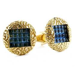 Vintage Lucien Piccard Cuff-links In 14k Yellow Gold