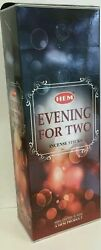 Hem Incense Evening For Two Box of 6 Tubes 120 Sticks Free Shipping $9.94