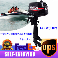 2 Stroke 6hp Outboard Boat Motor Fishing Boat Engine Water Cooling Cdi System Us