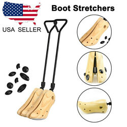 1 Pair Solid Pine Wood&Metal Shaft Boot Stretchers Shoe Expander 39-42 Feet Boot $18.49
