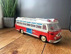 Rare Large Airport Limousine Bus Shanghai China Mf910 Tin Friction Toy Man Cave