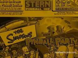 The Simpsons Pinball Party - Stern - Pinball Manual - Schematics - Instruction