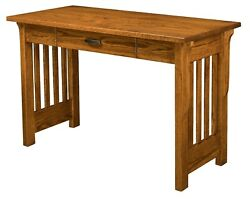 Quick Ship 48 Amish Mission Writing Desk Boston Office Furniture Red Oak Wood