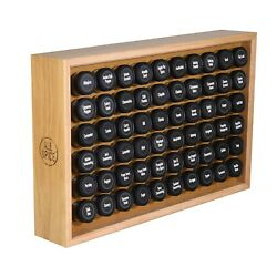 Allspice Wooden Spice Rack Includes 60 4oz Jars Walnut Cherry Maple And More