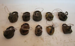Lot Of 10 Pieces Antique Brass Padlock - Lock With Key - Brass Made 563