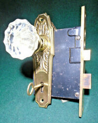 Sargent 6344 Entry Set W/mortise Lock W/key, Knobs, Plates Restored 14440