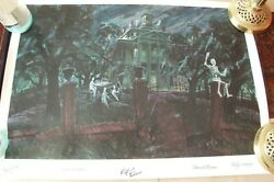 Rare Disney Gallery Haunted Mansion Lithograph - Signed Artist Proof 1999