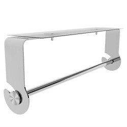 Smartake Paper Towel Holder With Adhesive Under Cabinet Wall Mounted And No Steel