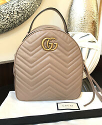 Gg Marmont Backpack Matelasse Dusty Pink Bag Purse