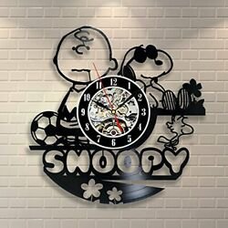Snoopy Vintage Office Decor Vinyl Record Wall Clock Wedding - Win a prize for fe