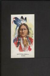 1920and039s V253 Canadian Chewing Gum Indians Premium Card Sitting Bull No Creases