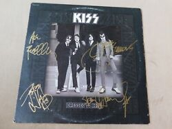 KISS Autographed DRESSED TO KILL Original Pressing Record Album LP Cover
