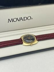 Vintage Movado 14k Gold Kingmatic Hs360 Date Automatic Watch.