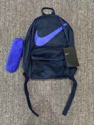 Nike School Backpack with Soft Pencil Case BRAND NEW Blue Navy $29.99